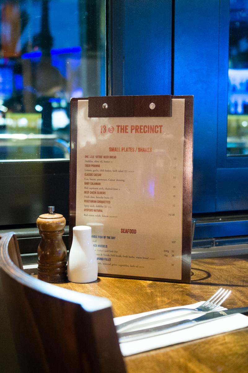 The Precinct Tavern new dinner menu