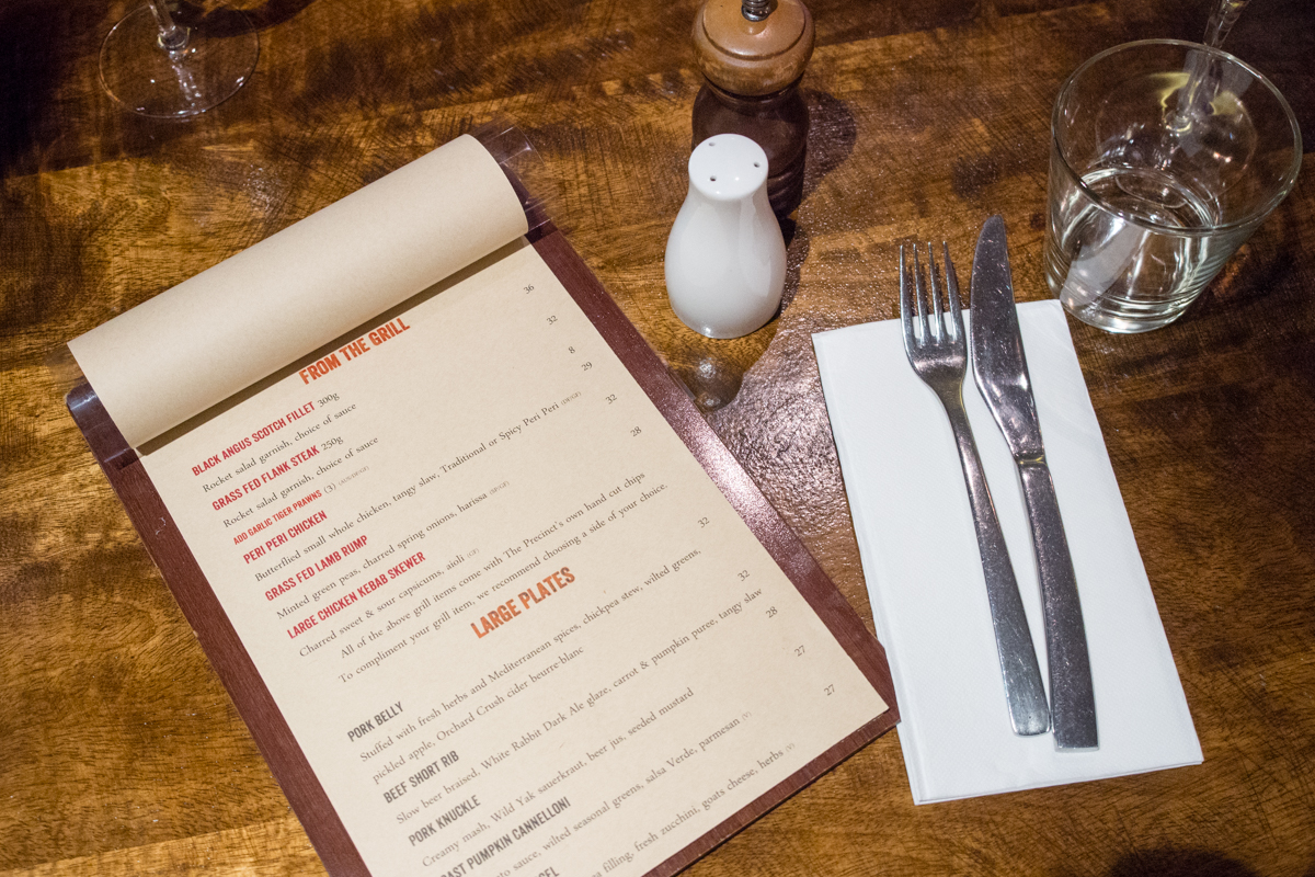 The Precinct Tavern new dinner menu