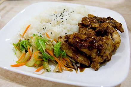 Teriyaki chicken from Rapid Café