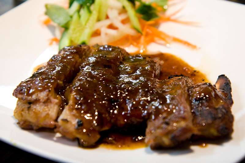 Ruby - Char grilled pork ribs withsweet and sour sauce