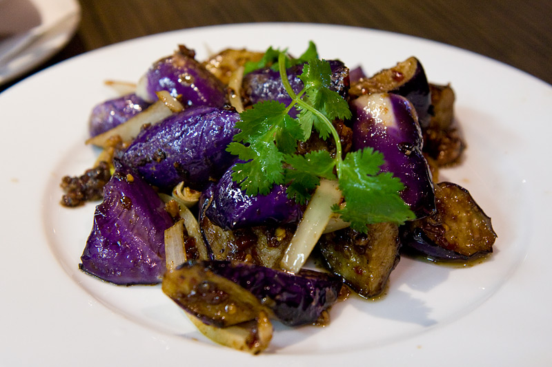 eggplant with pork mince and XO sauce
