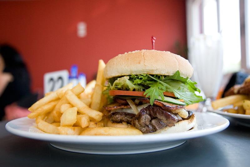 Scotch fillet steak burger