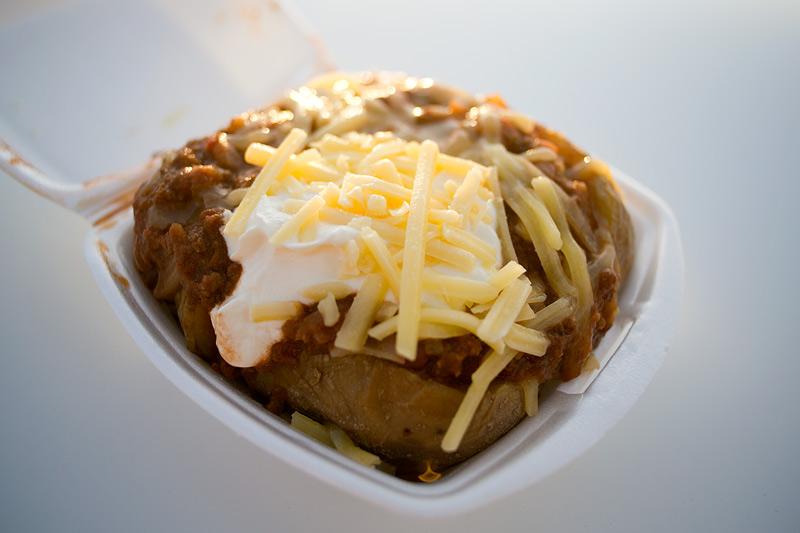 The Potato Man - baked spud chilli con carne