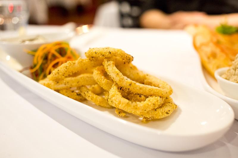 Pavonia Place - polenta crusted calamari